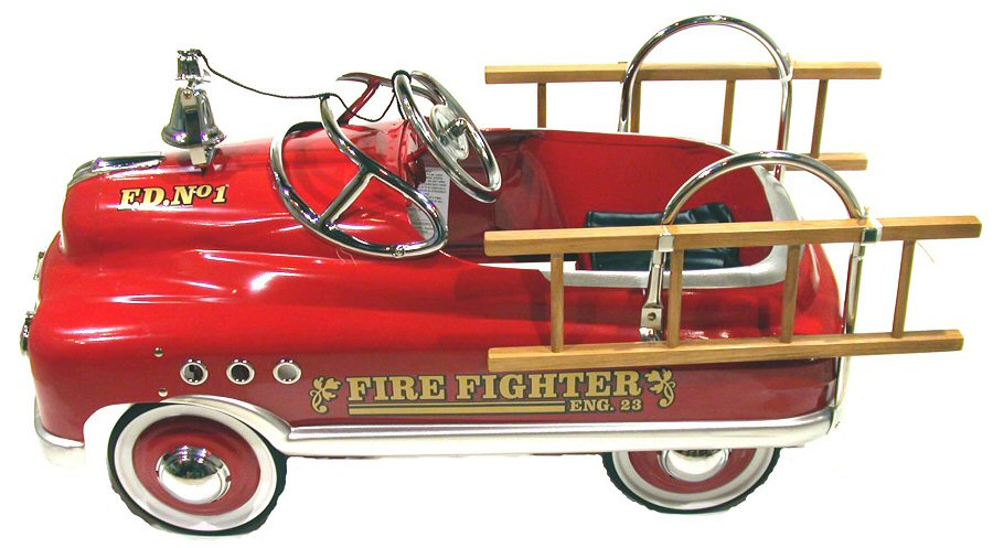 Fire Truck Pedal Car: Red Comet Fire Engine Pedal Car